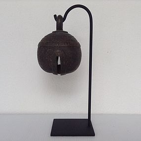 ANTIQUE BRONZE WATER BUFFALO BELL, 19th Century