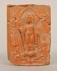 TANG DYNASTY BUDDHA VOTIVE TSA-TSA TABLET, 618-906 A.D. CHINA