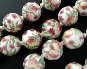 INDIVIDUAL PEACH BEADS FAMILLE ROSE, CHINA, 19th Century