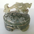 ANCIENT CHINESE JADE DRAGON-TURTLE