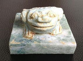 ANCIENT CHINESE FENG-SHUI 3-LEGGED MONEY TOAD SEAL CHOP