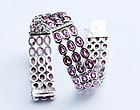 STUNNING 18K WHITE GOLD BRACELET WITH PINK SAPPHIRES & DIAMONDS
