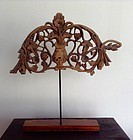 FINE NORTHERN THAI 19TH CENTURY WOODCARVING MOUNTED