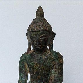GENUINE SHAN BRONZE BUDDHA, 18TH CENTURY, BURMA