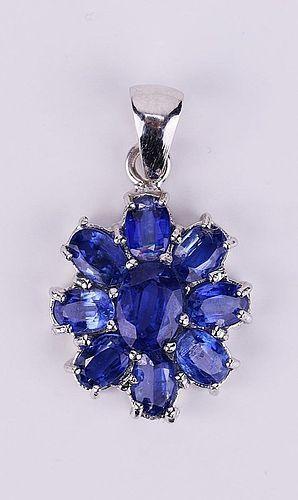 A FINE & GENUINE BLUE SAPPHIRE PENDANT