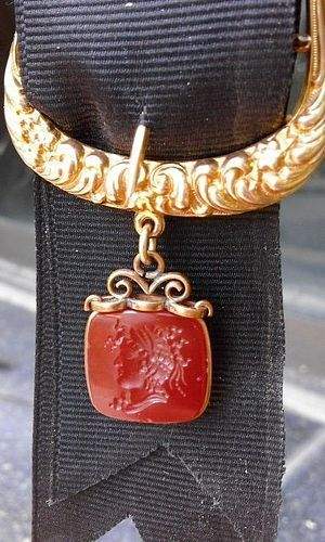 ANTIQUE GENUINE CARNELIAN INTAGLIO, 19TH CENTURY