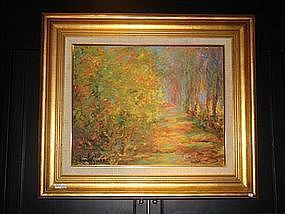 Impressionist style Oil Painting, signed/framed