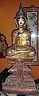 Rare Wooden Khmer Buddha, 18/19th Century, Cambodia