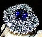Ballerina Ceylon Blue Sapphire/Diamond Ring 18K