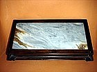 Rosewood/Marble Miniature Bonsai/Display/Offering Table