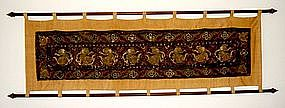 Antique Burmese KALAGA Tapestry 19th Cent with Dancers