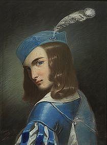 Painting, Renaissance Page, Italian School, 1843