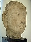 Genuine AYUTTHAYA Sandstone Head of Buddha, Siam