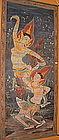Fine Thai Tempera Scroll Painting of Kinaree Angels