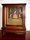 Rare Siamese Miniature Shrine/Display Cabinet, 19th C.