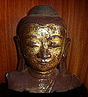 Lacquer Buddha Figure, Burma, 19th Cent. with gilding