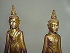 """Rare Pair 19th Cent. Thai Buddhas """"Calling for Rain"""""""