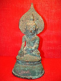 Extremely Rare MON Bronze Buddha 17th Cent. Burma