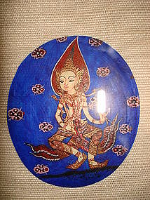 Framed Miniature Thai Paintings on Mother-of-Pearl