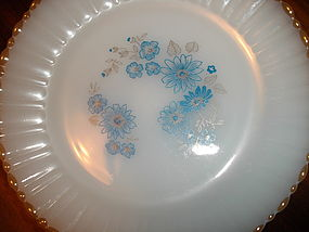 Termocrisa Glass Blue Floral Dinnerware Pieces