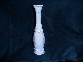 White milkglass vases