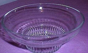 Clear Glass Floral Bowl