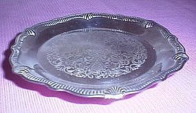 Silverplated footed candy dish