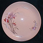 Made in China Purple and Orange Floral Plates