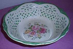 Homer Laughlin Virginia Rose serving bowl