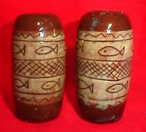 Red Clay Ceramic Salt and Pepper Shakers