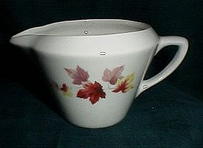 Sabin China Autumn Leaves Creamer