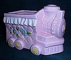 Pink Ceramic Train Planter for Nursery