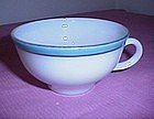 Pyrex Turquoise w/gold band coffee cup