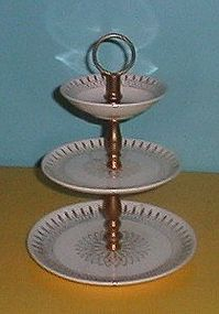 Royal China Fascination 22K Gold 3 Tier Tidbit