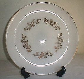 Federal Glass Gold Deco Serving Plate
