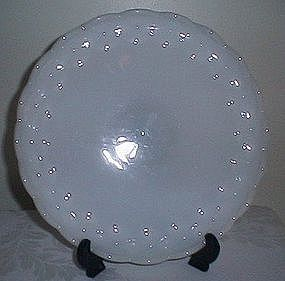 Quilted Diamond Milk Glass Serving Plate