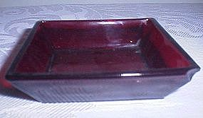 Ruby Glass Dish