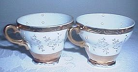 Gold Trimmed Miniature Teacups