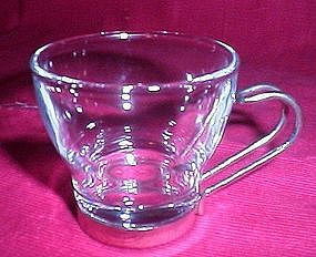 Covetro Italy Chrome and Glass Espresso Cup