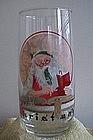 Norman Rockwell Santa/Coca Cola Glass