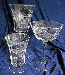 Bartlett & Collins Crystal Stemware