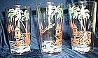 Vintage Glass Tumblers Puerto Rico