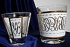 Vintage Libbey Gold Glassware
