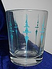 "Vintage ""Staccato"" Glass Tumbler"