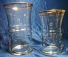 Libbey Gold Rim Glass Tumblers
