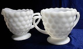 Anchor Hocking Bubble Pattern Milk Glass