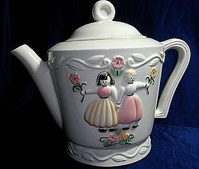 Porcelier Dutch Boy and Girl Teapot