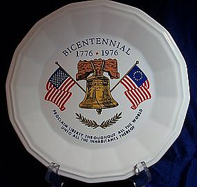 Homer Laughlin Bicentennial Liberty Bell Plate