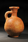 Ancient Biblical Iron Age burnished wine decanter,800Bc