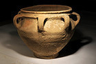 Ancient Biblical Iron Age wine Krater with 6 handles